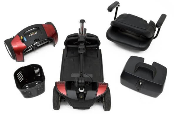 mobility scooter in part for transport